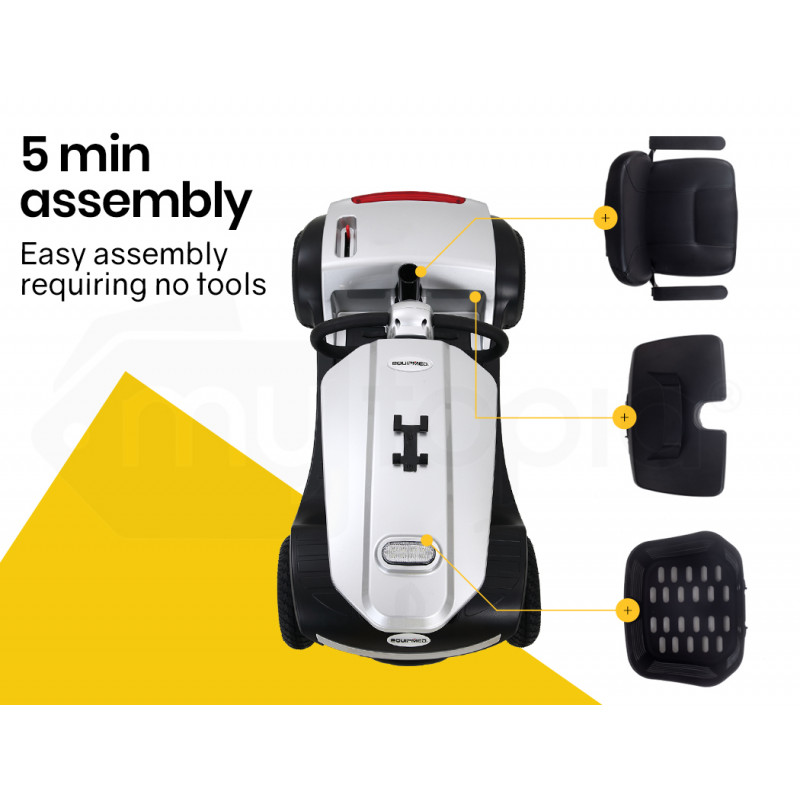 EQUIPMED Electric Mobility Scooter For Elderly Silver by Equipmed