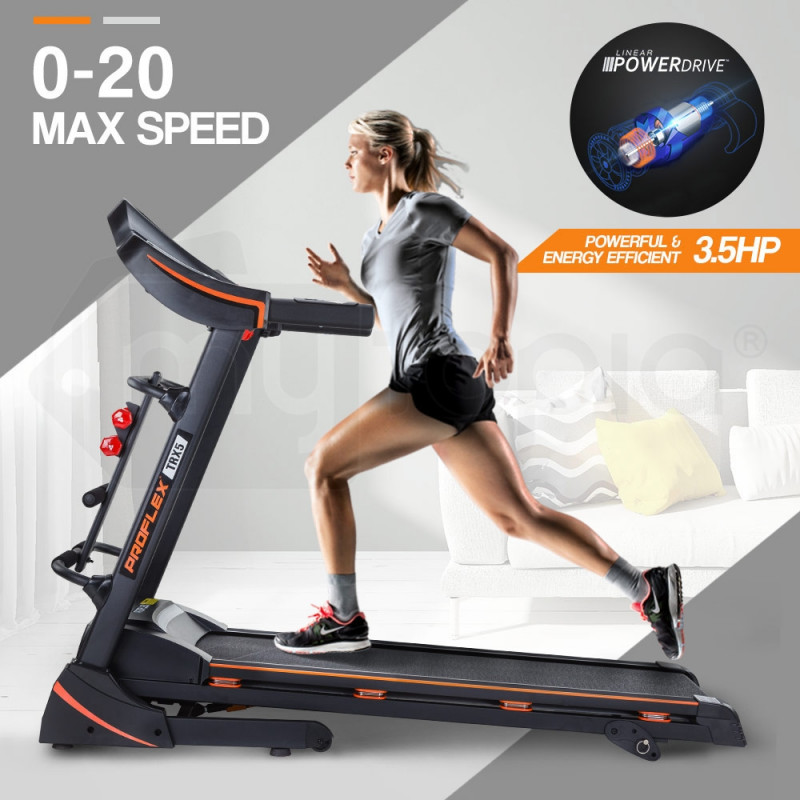 PROFLEX Electric Treadmill with Fitness Tracker Home Gym Exercise Equipment - TRX5 Elite by Proflex