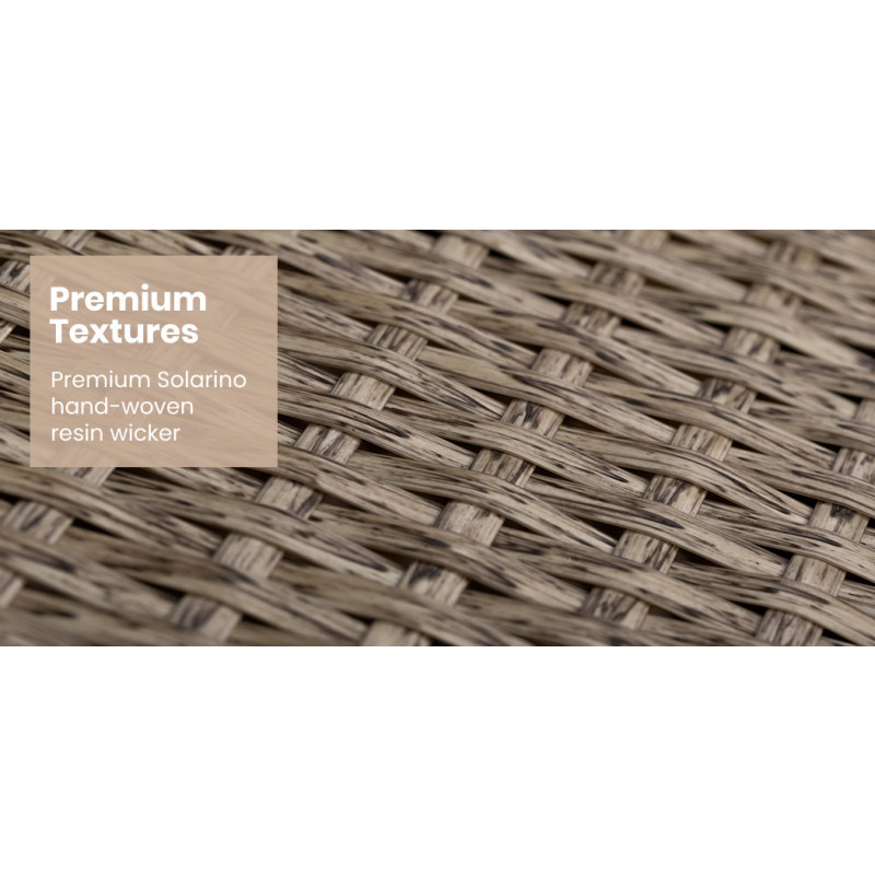 LONDON RATTAN Outdoor Day Bed 4-Piece Set, Light Brown Wicker, White Canopy by London Rattan