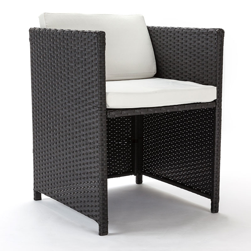 LONDON RATTAN Wicker 11 Piece Outdoor Dining Furniture Set - Table and Chairs by London Rattan