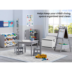 DELTA CHILDREN Toy Chest Wooden Box Kids Furniture, White by Delta Children