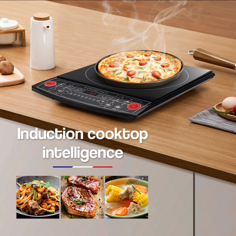 EuroChef Electric Induction Portable Cooktop Ceramic Hot Plate Kitchen Cooker 15AMP by EuroChef