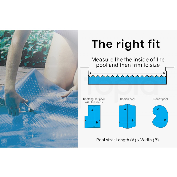 AURELAQUA 500 Micron 11x5m Solar Thermal Blanket Swimming Pool Cover, Blue by Aurelaqua