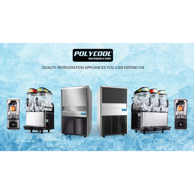 POLYCOOL IM-85L Commercial Ice Machine Maker, Automatic, 60kg/24 hr, Undercounter, Stainless Steel by PolyCool