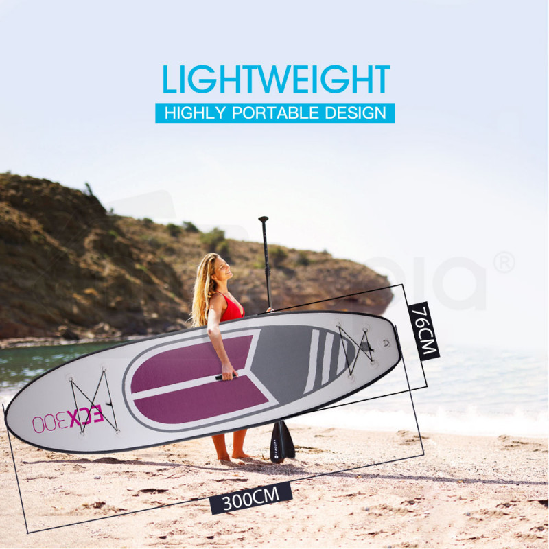 SEACLIFF 10ft Inflatable SUP Stand Up Paddleboard, White, Pink and Purple by Seacliff