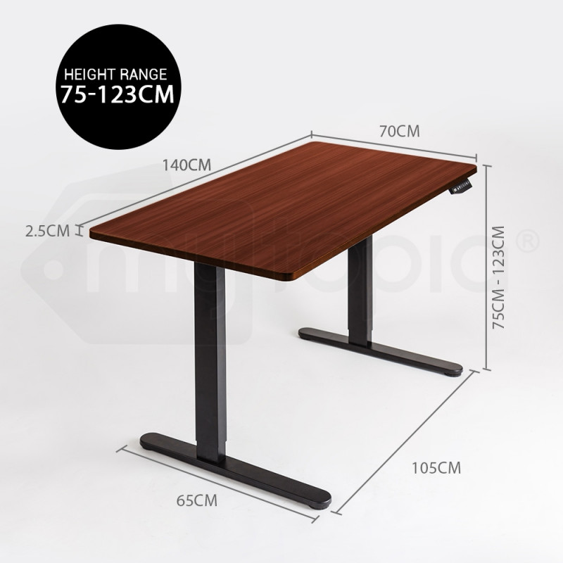 AVANTE Sit/Stand Motorised Electric Height Adjustable Desk 140cm Mahogany by Avante
