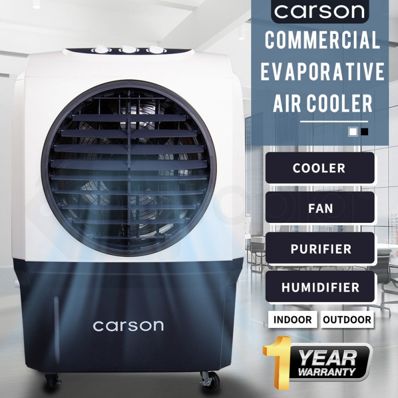 CARSON 4in1 Evaporative Air Cooler Portable Commercial Fan Industrial Workshop Water by Carson