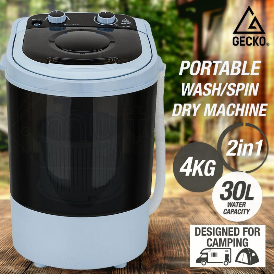 GECKO 4kg Mini Portable Washing Machine Camping Caravan Outdoor RV Boat Dry by Gecko