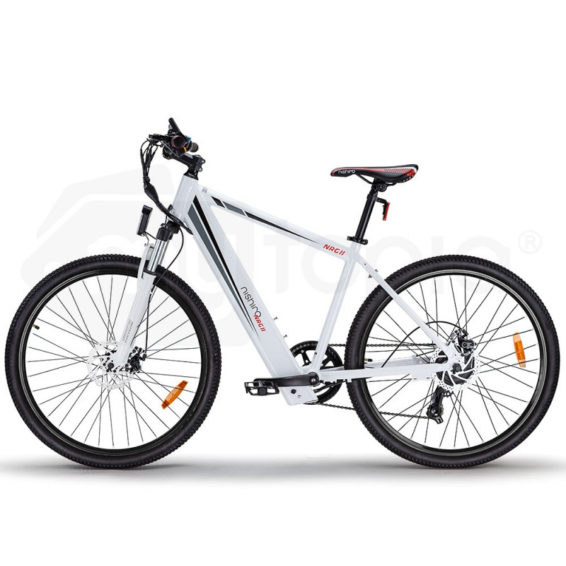 "Nishiro eMTB 36V 250W Shimano Electric Mountain Bike eBike Battery 27.5"" White - NRG II  by Nishiro"