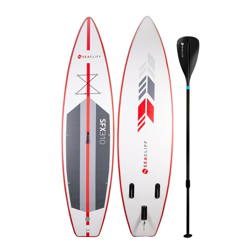 SEACLIFF Stand Up Paddle Board - Inflatable SUP Surf Kayak Paddleboard Race by Seacliff