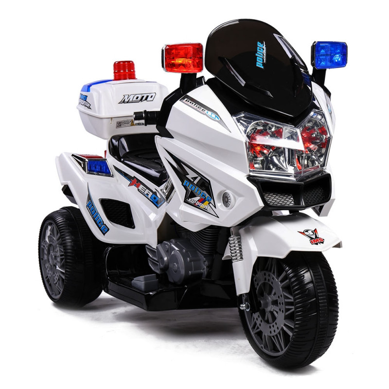 ROVO KIDS Electric Ride-On Patrol Motorbike S1K-Inspired Battery Police Toy Bike by Rovo Kids