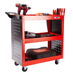PRE-ORDER BULLET 3-Tier Storage Metal Rolling Steel Trolley Cart by Bullet Pro