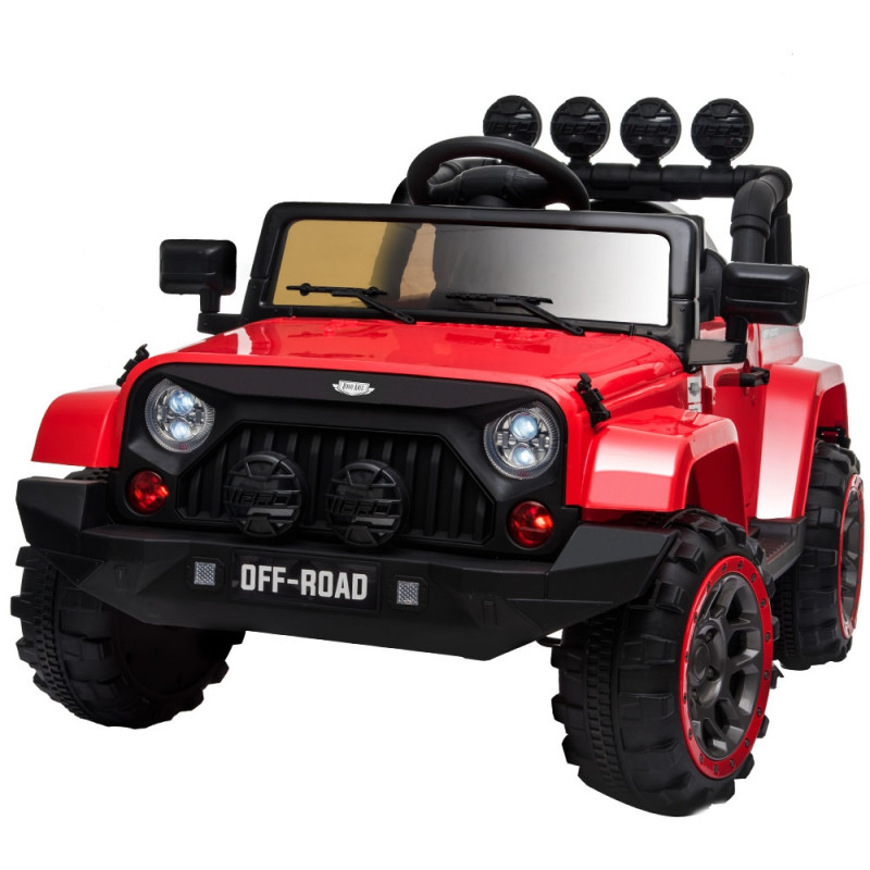 ROVO KIDS Jeep Inspired 4WD Electric Kids Ride On Car Battery Powered 12V - Red by Rovo Kids