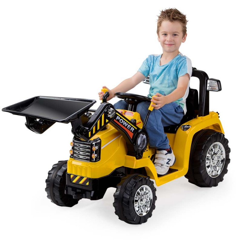 Rovo Kids Bulldozer Tractor Digger Electric Kids Ride On Cars by Rovo Kids