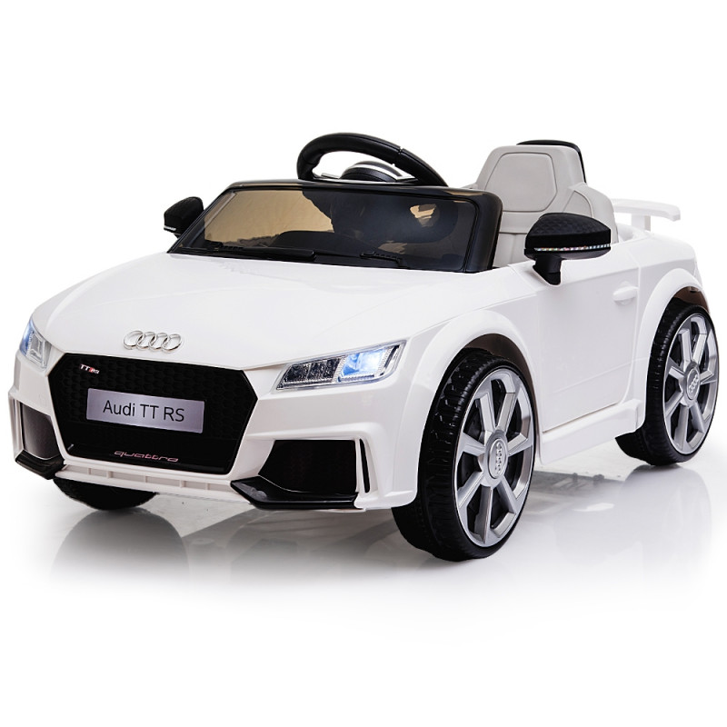 AUDI TT RS Licensed Electric Kids Ride On Car Battery Powered 12V - White by Rovo Kids