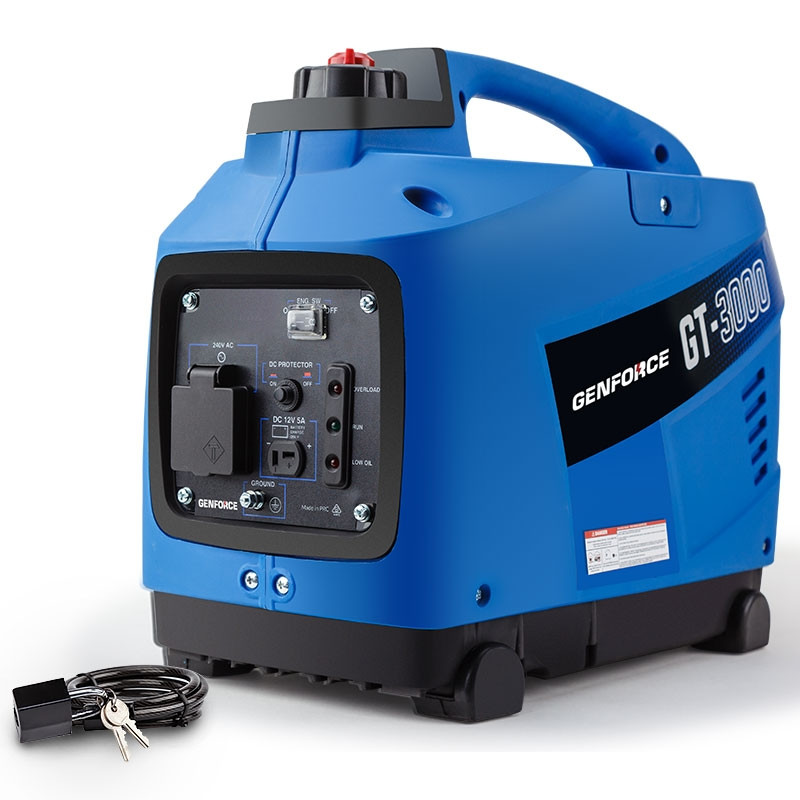 GENFORCE Inverter Generator 2000Watts Max 1700Watts Rated Portable Camping Petrol by Genforce