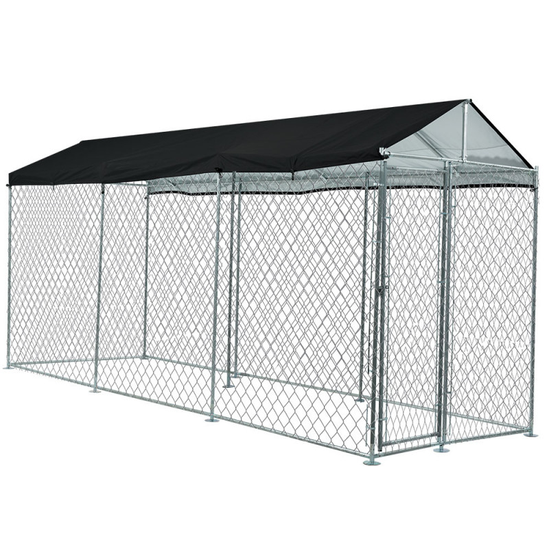 NEATAPET 4.5x1.5m Outdoor Chain Wire Dog Enclosure Kennel with Shade Cover for Dog, Puppy by NeataPet