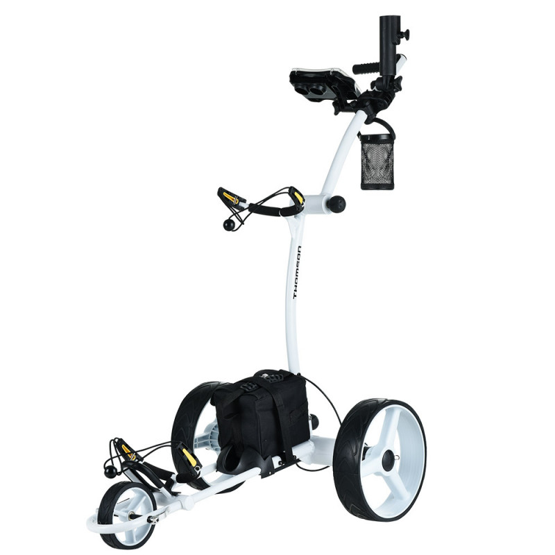 THOMSON 500W Electric Golf Buggy Twin Motor, Drink and Umbrella Holder, White by Thomson