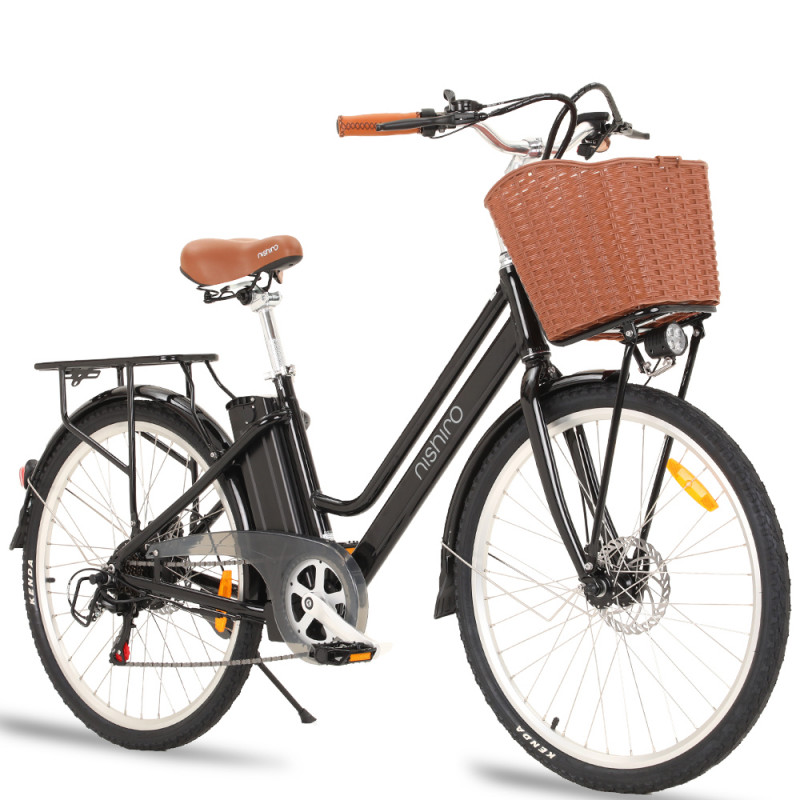 Nishiro SOHO Vintage Style Electric Bike for Ladies, Step-Through Design by Nishiro