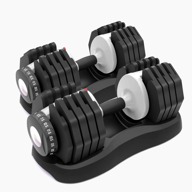 ATIVAFIT 2 x 25kg Adjustable Weight Dumbbell Set, for Home Gym Fitness Training by Ativafit