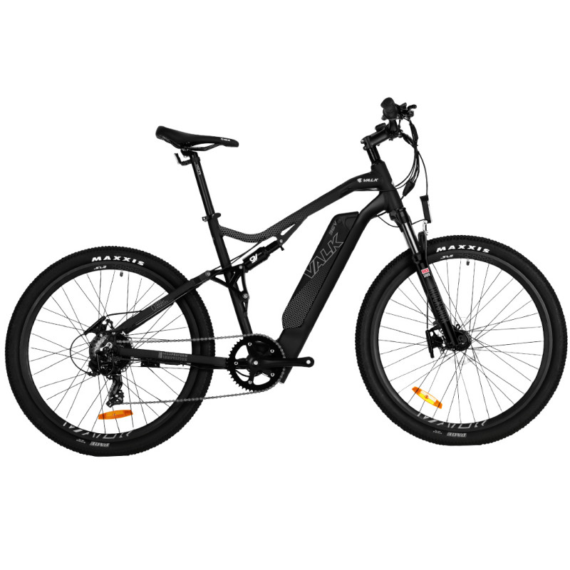VALK XT9 Electric Dual Suspension Mountain e-Bike, Large, Rockshox, Tektro, Maxxis, Velo, Shimano Gears by Valk