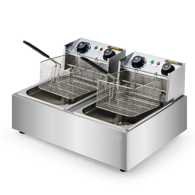 EuroChef Commercial Electric Deep Fryer Twin Frying Basket Chip Cooker Fry by EuroChef