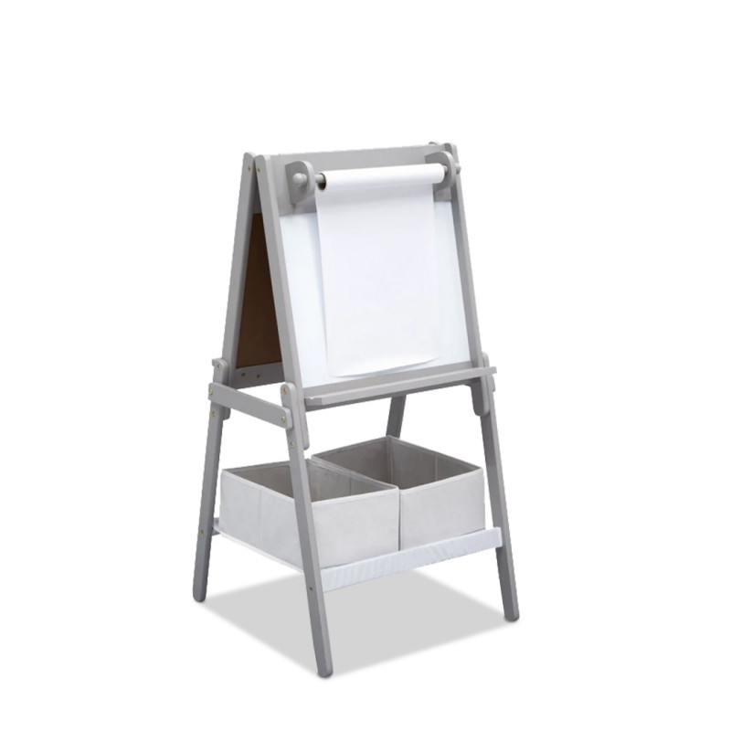 DELTA CHILDREN Kids Double-Sided Easel, Chalk and Whiteboard, with 10m Paper Roll by Delta Children