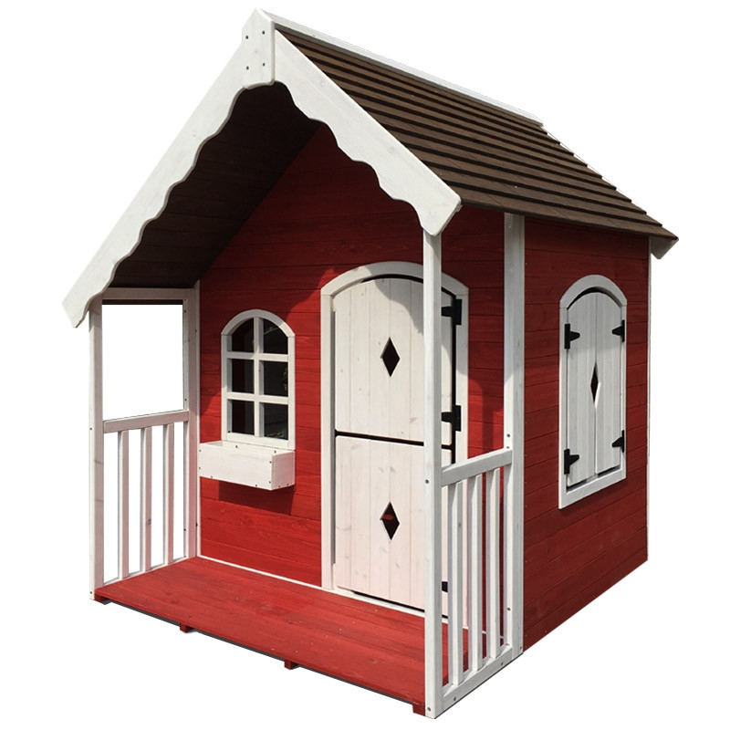 ROVO KIDS Cubby House Wooden Cottage Outdoor Furniture Playhouse Children Toy by Rovo Kids