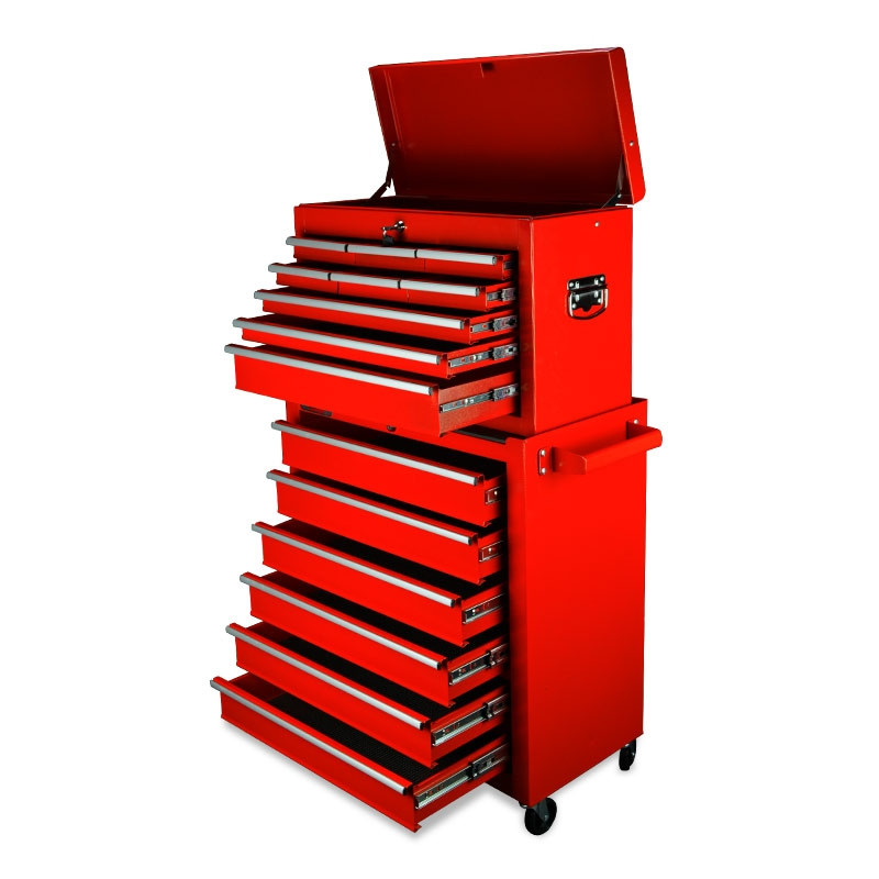 BULLET 15 Drawer Tool Box Storage Cabinet Chest Garage Trolley Toolbox Mechanic by Bullet Pro