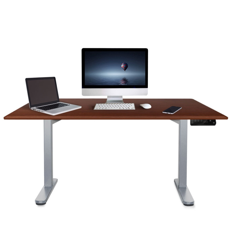 FORTIA Sit/Stand Motorised Height Adjustable Desk 150cm Walnut/Silver by Fortia