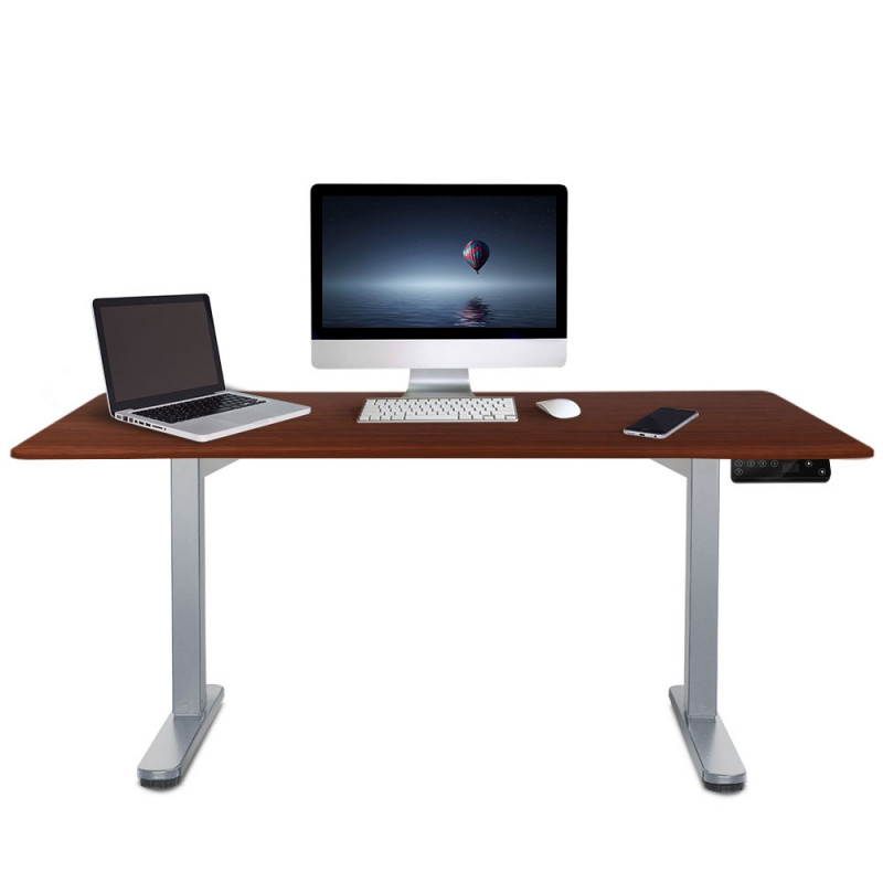 FORTIA Sit/Stand Motorised Height Adjustable Desk 160cm Walnut/Silver by Fortia