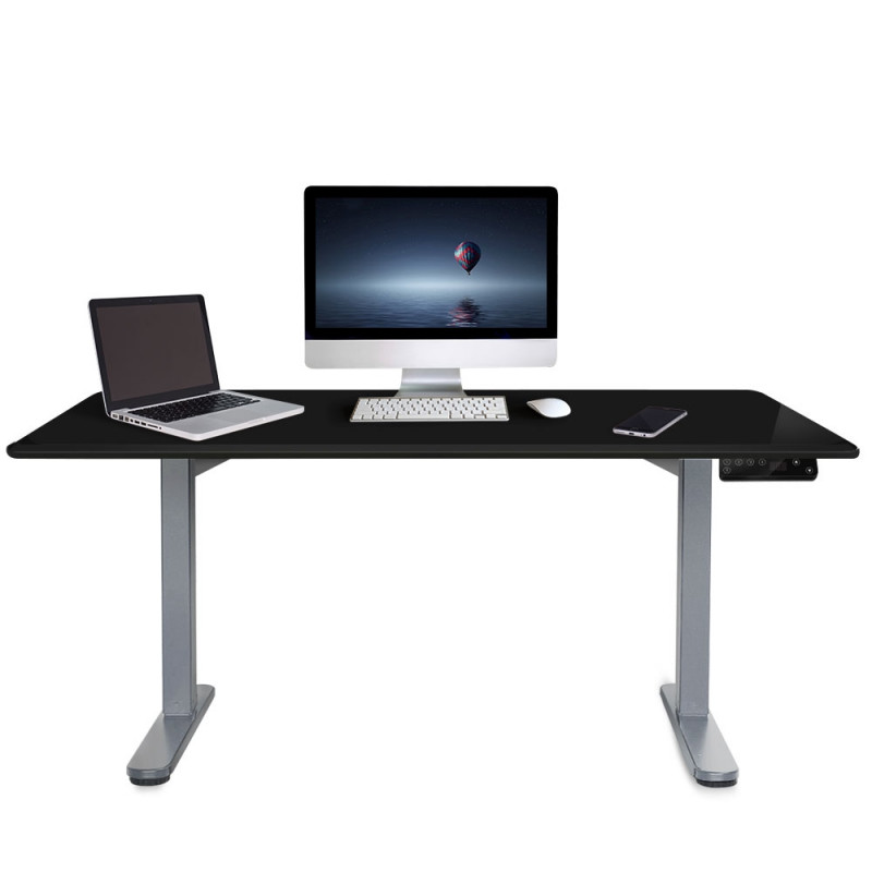 PRE-ORDER FORTIA Sit/Stand Motorised Height Adjustable Desk 150cm Black/Silver by Fortia
