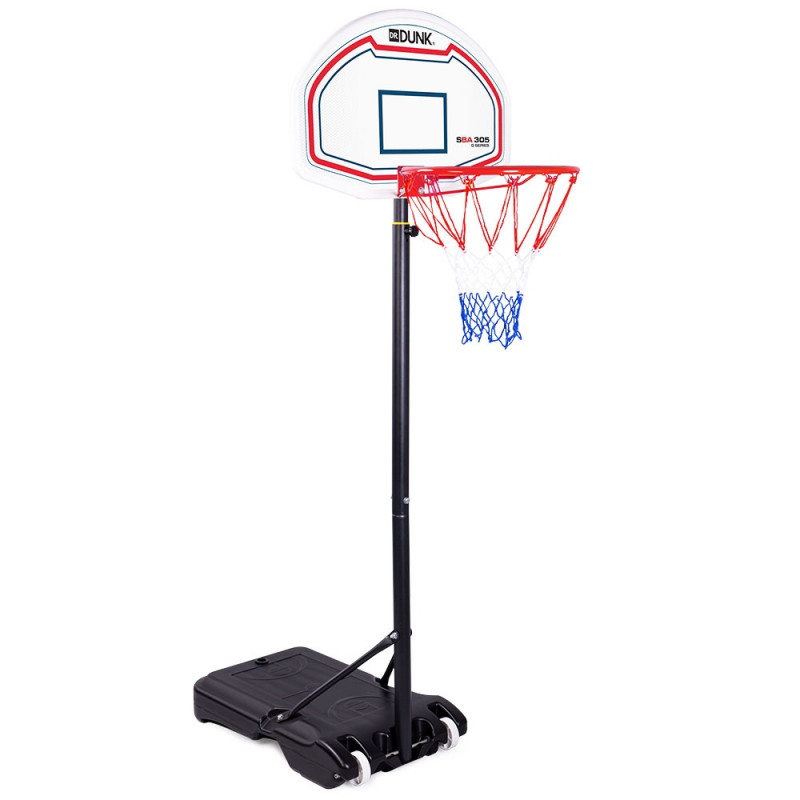 Dr. Dunk White Height Adjustable Kids Basketball Hoop Stand by Dr. Dunk