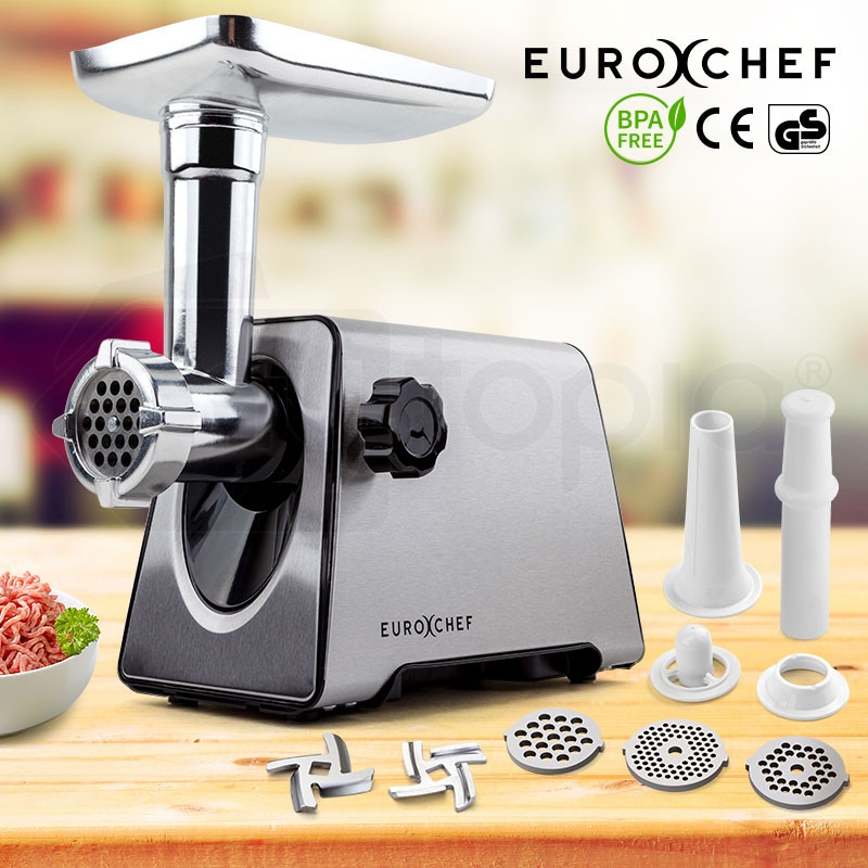Meat Grinder Electric Stainless Steel Mincer Sausage Kebbe Maker Kitchen by EuroChef