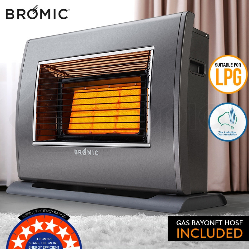 BROMIC Supaheat II LPG Indoor Gas Heater Room Floor Portable Flueless Radiant by Bromic