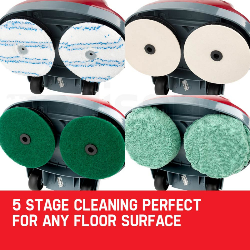 5 in 1 Floor Polisher Twinhead Timber Carpet Cleaning Tile Wax Buffer Cleaner by Auch