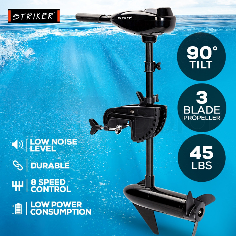 45 LBS Electric Trolling Motor Inflatable Boat Outboard Engine Fishing Marine by Striker