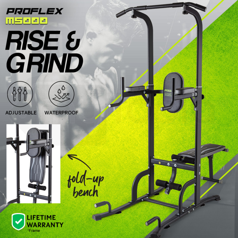 Proflex Pull & Chin Up Bar Bench Press Multi Station Home Gym- M5000 by Proflex