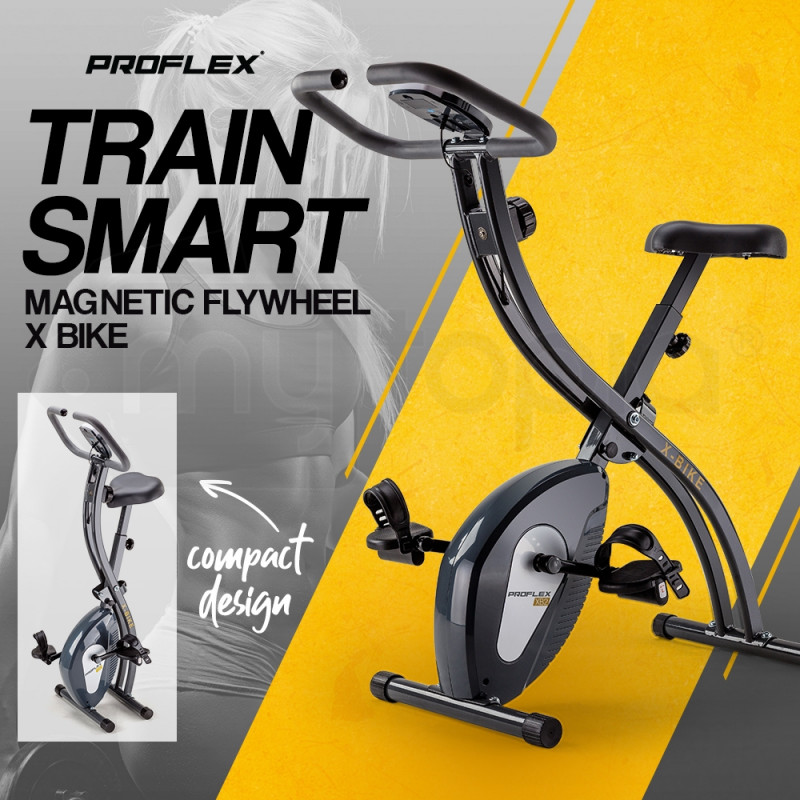 PROFLEX Folding Magnetic Exercise X-Bike - Bicycle Cycling Flywheel Fitness  by Proflex