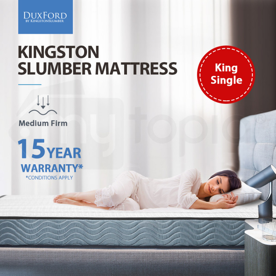 KINGSTON SLUMBER King Single Mattress 16cm Medium Firm Bonnell Innerspring by Kingston Slumber