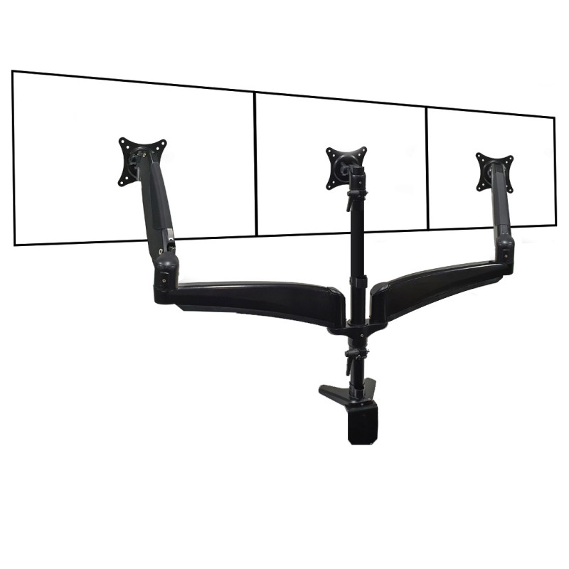 FORTIA Triple Monitor Stand 3 Arm Computer Display Mount, with Height Tilt and Swivel Adjustability by Fortia