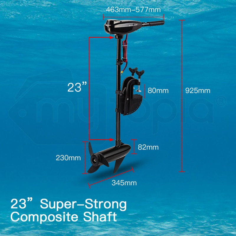 60LBS Electric Trolling Motor Inflatable Boat Fishing Marine Outboard Engine by Striker