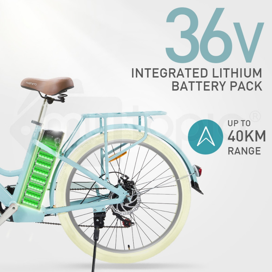 Nishiro Electric E Bike - e-bike Vintage Ladies Pedelec Bicycle Battery Ebike by Nishiro