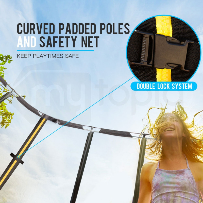 Up-Shot 14ft Round Trampoline FREE Basketball Safety Net Spring Pad Ladder by Up-Shot