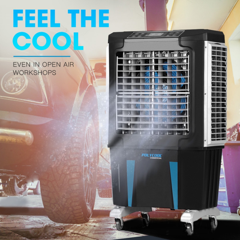 POLYCOOL 4in1 Evaporative Air Cooler Portable Industrial Commercial Fan Workshop by PolyCool