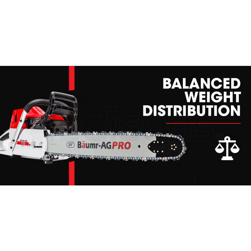 "Baumr-AG 24"" E-Start Commercial Petrol Chainsaw- SX82 by Baumr-AG"
