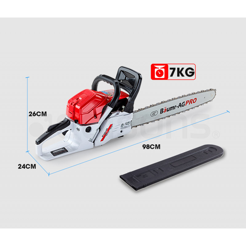"""Baumr-AG 22"""" E-Start Commercial Petrol Chainsaw Pro Series - SX75 by Baumr-AG"""
