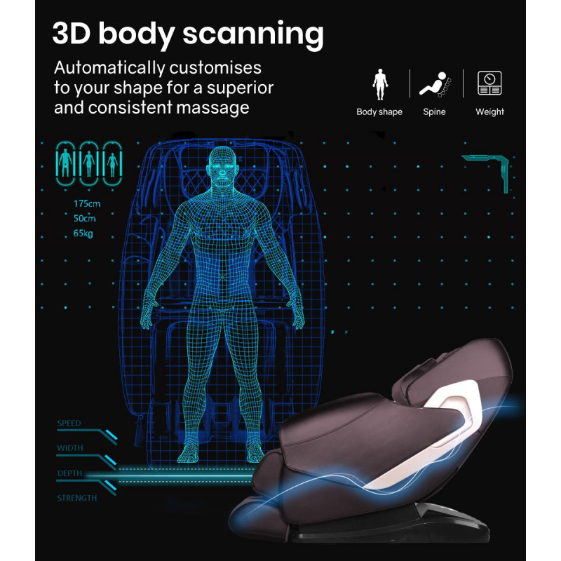 FORTIA Cloud 9 MKII Electric Massage Chair Full Body Zero Gravity with Heat and Bluetooth Bronze by Fortia