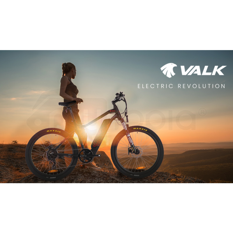 "PRE-ORDER VALK eMTB Maxxis Velo Shimano 36V 250W eBike Electric Mountain Bike  26"" Black - MX6 by Valk"