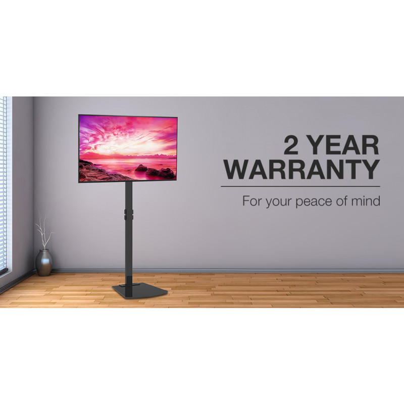 FORTIA Stationary TV Stand for 32-70 Inch Television Screens, Adjustable Height, Universal, Black by Fortia